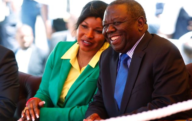 Elizabeth and Morgan Tsvangirai