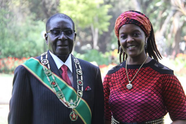 Mugabe and wife Grace