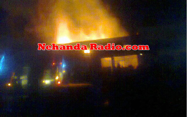 Fire guts Zanu PF offices