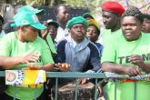 Zanu PF supporters at the opening of parliament this year