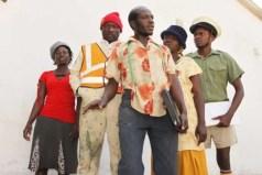 """David Mubayiwa aka """"Sabhuku Vharazipi"""" with the rest of the cast"""