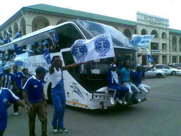 File picture of travelling Dynamos supporters in Gweru