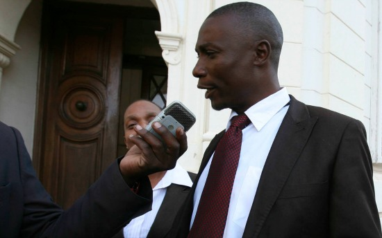 Jealousy Mawarire speaks to reporters after the judgement