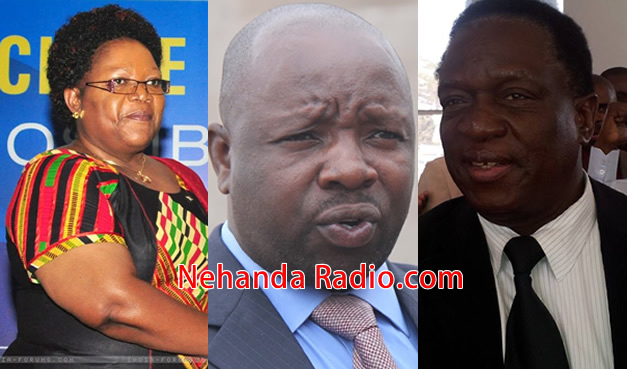 Joice Mujuru, Munyaradzi Kereke and Emmerson Mnangagwa