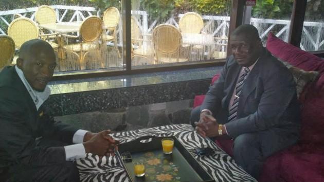 Prophet Uebert Angel with former St. Lucia Prime Minister, now Opposition Leader, Stephenson King