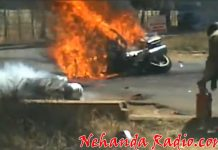 Last year one of Mugabe's outriders met a painful death as he was engulfed in flames but could have been saved as he was breathing when the motorcade zoomed past his smoking body, much to the chagrin of onlookers.