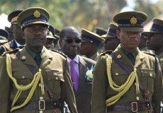 Mugabe inspecting police guard