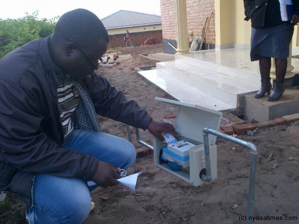 Pre-paid water meters in Malawi (Picture by Nyasha Times)