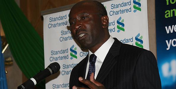 Standard Chartered bank (Kenya) CEO Richard Etemesi (file photo)