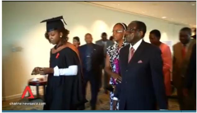 Bona Mugabe graduates in Singapore