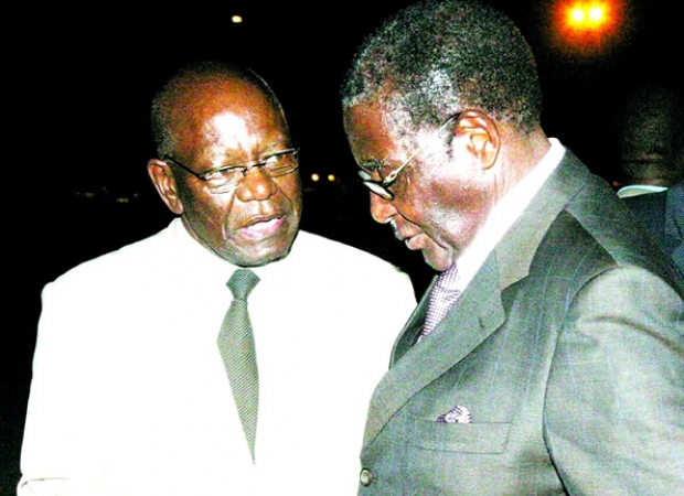 Didymus Mutasa seen here with President Mugabe