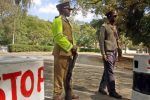 Police road block in Zimbabwe