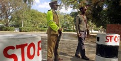 Police road block in Zimbabwe