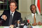 Prime minister Tony Blair with South African deputy President Thabo Mbeki in 1999