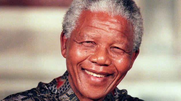 Nelson Mandela smiles