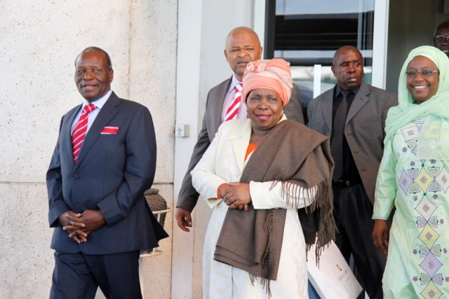 Nicholas Goche (left) with AU chair Dr Nkosazana Dlamini-Zuma