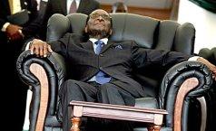 Commander in Sleep: President Robert Mugabe