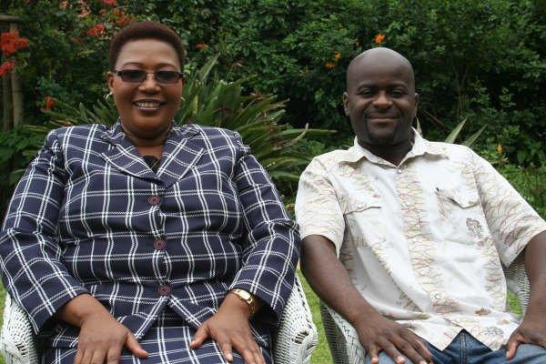 Rodgers Mudarikwa (right) with MDC-T Vice President Thokozani Khupe