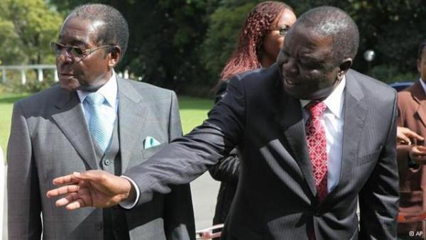 President Mugabe seen here with Morgan Tsvangirai