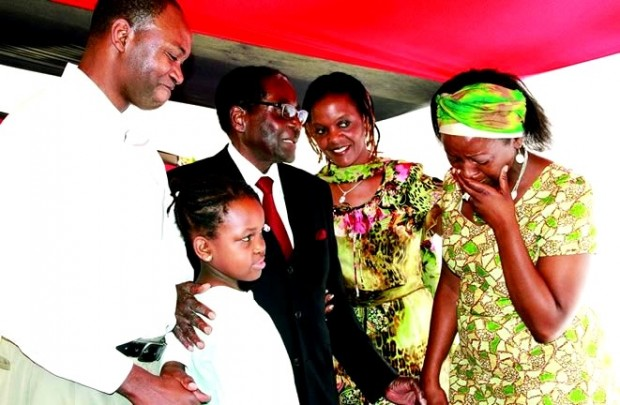 Shingisai Suluma breaks into tears after meeting President Robert Mugabe in March this year