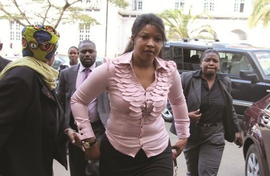 Elizabeth Macheka arrives at the High Court last year to support MDC activists
