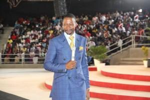 Prophet Emmanuel Makandiwa during a service