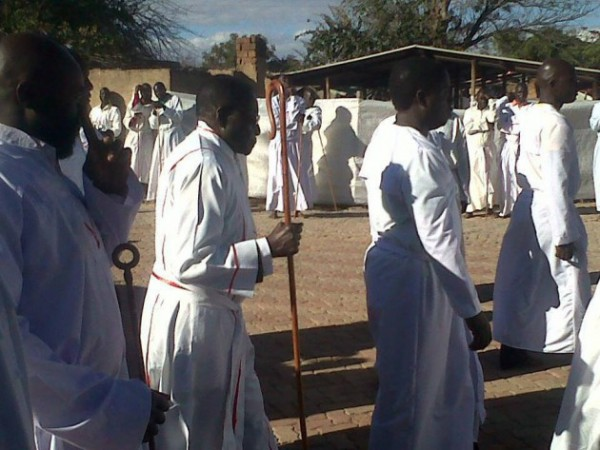 Last year Robert Mugabe hijacked the Johane Marange Apostolic Church gathering at its Holy Shrine in Marange. The event is an annual pilgrimage held every July but Mugabe and his wife tried to use it to canvas for votes.