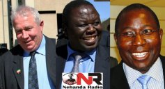MDC-T moneymen Roy Bennett and Elton Mangoma want Tsvangirai (centre) to step down