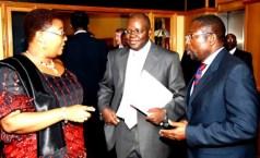 Vice President Thokozani Khupe, Secretary General Tendai Biti and Deputy Treasurer General Elton Mangoma