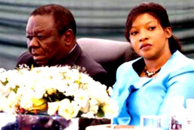 Tsvangirai and wife Elizabeth Macheka
