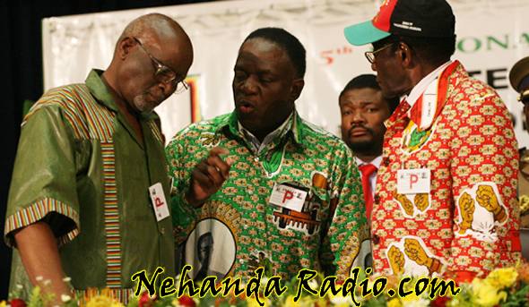 The late Vice President John Nkomo, Defence Minister Emmerson Mnangagwa (who led the CIO during the Gukurahundi Massacres) and President Robert Mugabe