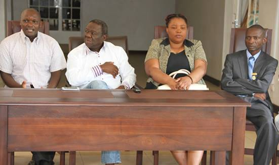 Tsvangirai welcomed the political detainees Last Maengahama, Tungamirai Madzokere and Yvonne Musarurwa at his Highlands residence