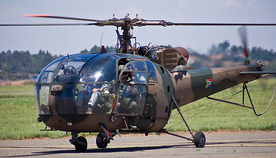 The Alouette III helicopters are the same aircraft the South African National Defence Force (SANDF) wanted to donate to Zimbabwe last year