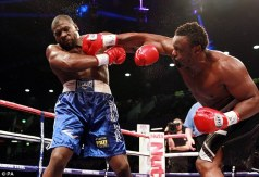 Heavy hitter: Dereck Chisora beat Kevin Johnson to remain on course for a world title eliminator