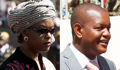 Grace Mugabe and her son Russell Goreraza