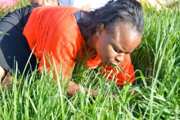 Pastor Lesego Daniel made church members eat grass