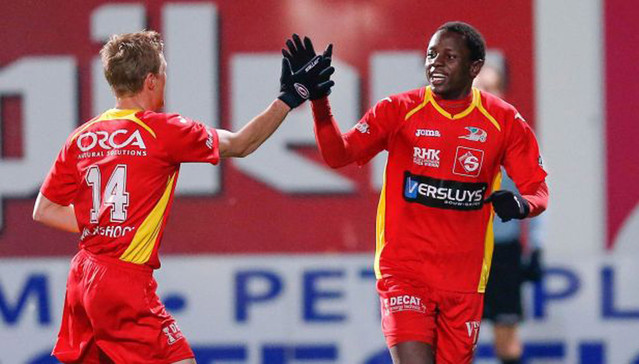 Nyasha Mushekwi's future with KV Oostende will hinge on the outcome of talks between the Belgian club and Mamelodi Sundowns.