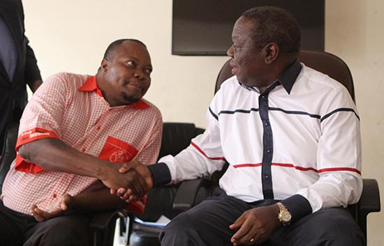 Sikhala seen here with Tsvangirai