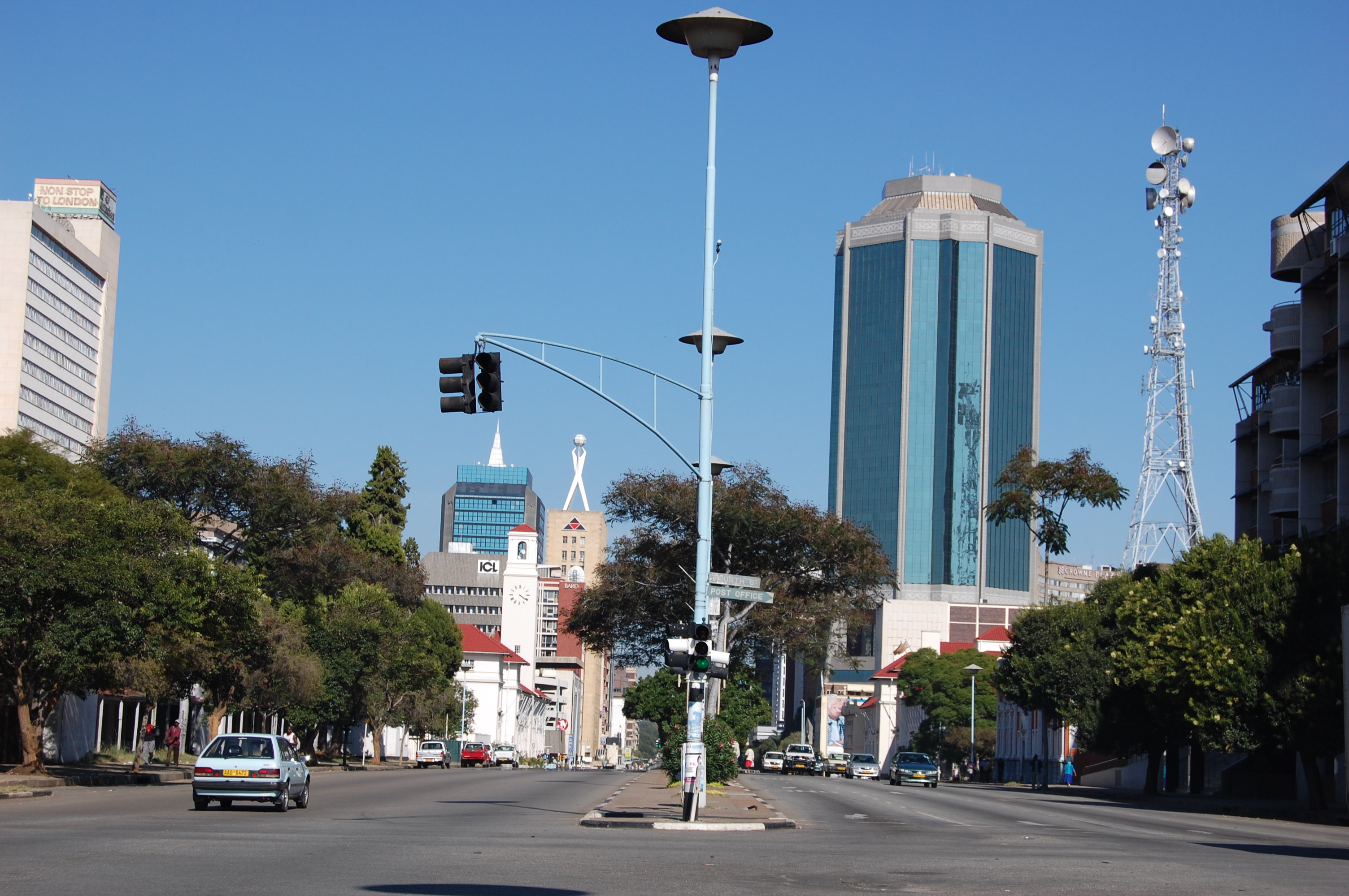 Reserve Bank Of Zimbabwe Building In The Background