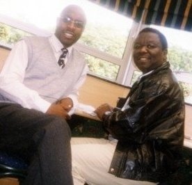 The new interim structure is headed by Austin Moyo (left) seen here with party leader Morgan Tsvangirai several years ago
