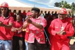 James Chidhakwa, Clifford Hlatywayo and Lovemore Chinoputsa at MDC-T rally.