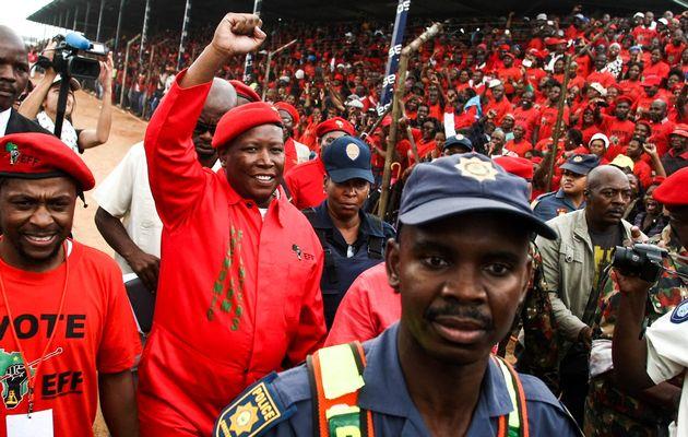 Julius Malema leads the EFF