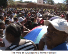 The mob called for the removal of the Kuwadzana 3 school head