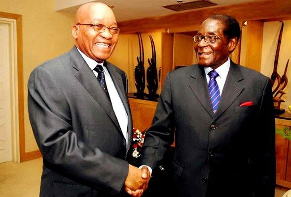 Zuma joins Mugabe's EU boycott