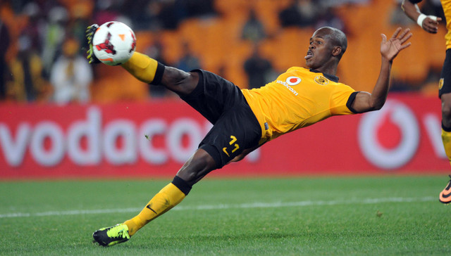 Knowledge Musona of Kaizer Chiefs during the Absa Premiership match between Kaizer Chiefs and Moroka Swallows on the 27 August 2013 at FNB Stadium