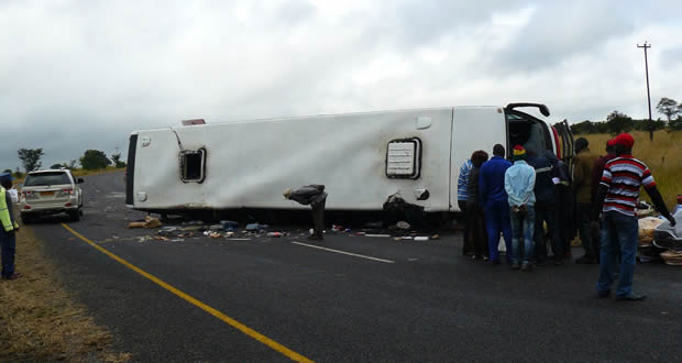 16 injured in bus accident near Shangani