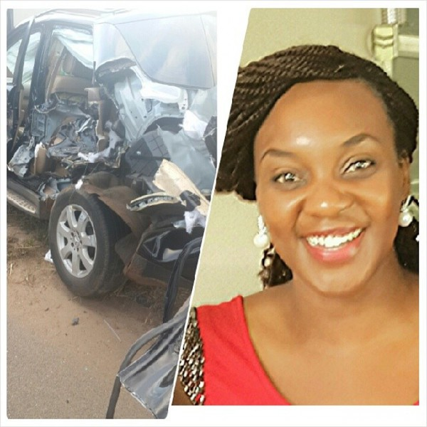 Ruvheneko Parirenyatwa's Mercedes after being hit by a train along Chiremba Road in Harare