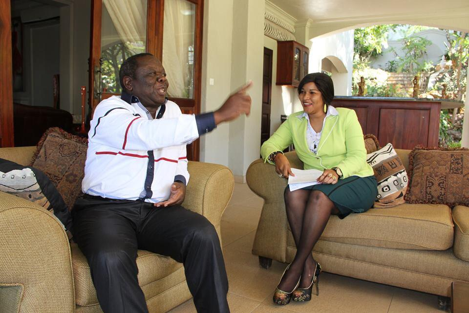 Tsvangirai resting at home with wife Elizabeth