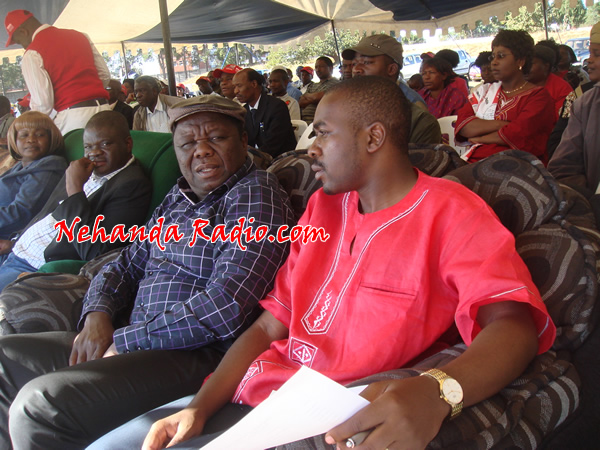 Tsvangirai seen here with close ally Nelson Chamisa