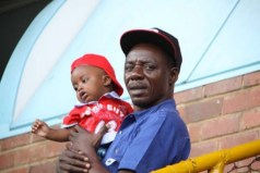 Macheso with one of his kids